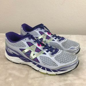 New Balance 840v3 White/Purple/Green Running shoe